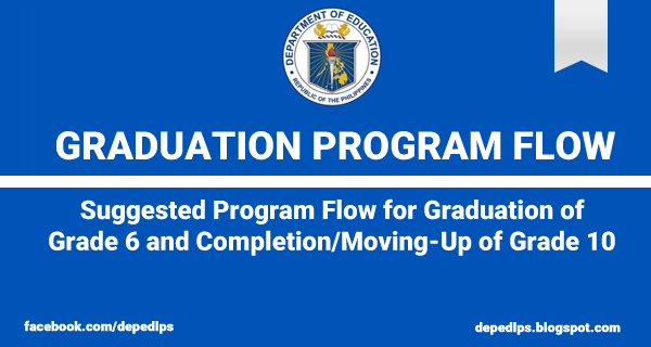 suggested program flow for graduation of grade 6 and completion