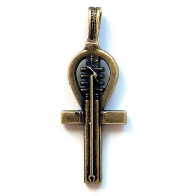 "Египетский крест ""Анкх"". Бронзовый кулон-талисман ""Ключ жизни"" (1)"