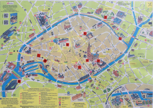 Mapa de Estrasburgo, Alsacia, Francia