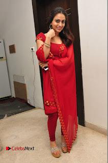 Actress Aksha Pictures in Red Salwar Kameez At Kalamandir 6th Anniversary Celebrations  0072.JPG