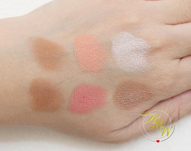 a swatch photo of MakeUp World Complete Contour Palette Review