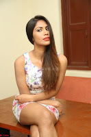 Nishi Ganda stunning cute in Flower Print short dress at Tick Tack Movie Press Meet March 2017 006.JPG