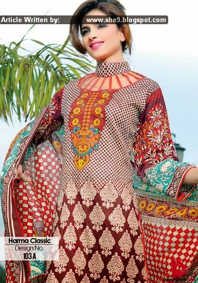 Dawood Harma Classic Lawn Collection 2015