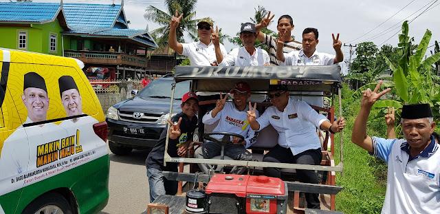 Ribuan Warga Arak BARAKKA Pakai Oto Garandong ke Lokasi Kampanye di Anabanua