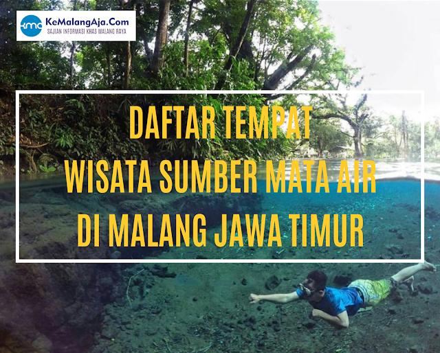 daftar tempat wisata sumber mata air di malang jawa timur