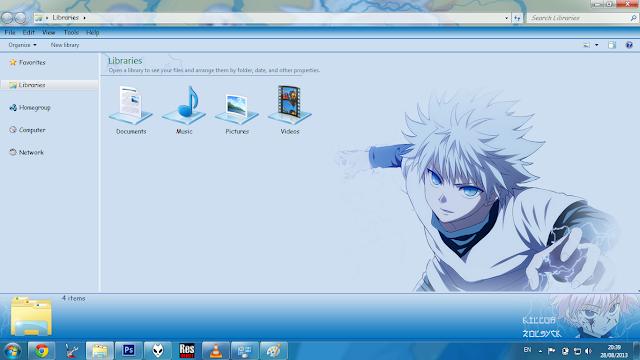 Windows 7 Theme Killua Zoldyck V2 by Bashkara
