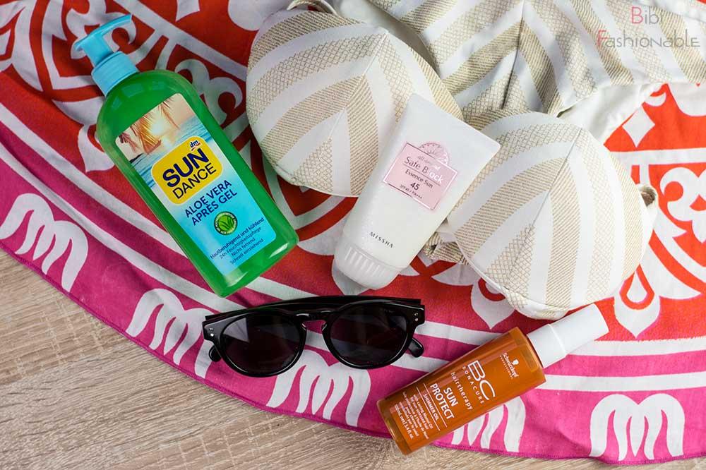 Top 3 Urlaubs Pflege Essentials Flatlay