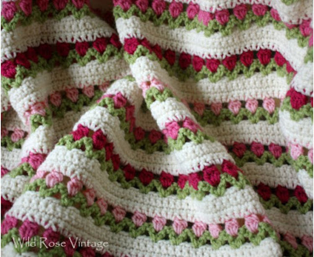 How to crochet the tulip stitch (video tutorial & diagram ...