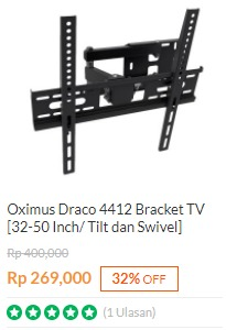 Bracket TV Oximus Draco 4412 32-50 Inch