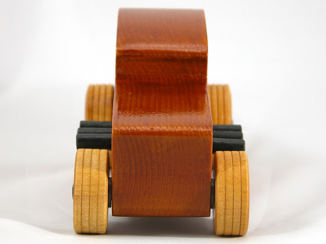 Front - Wood Toy Cars - Wooden Cars - Wood Toys - Wooden Car - Wood Toy Car - Hot Rod - 1932 Ford - 32 Deuce Coupe - Little Deuce Coupe - Roadster - Race Car