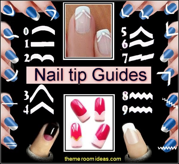 nail tip guides - nail guide stickers - nail decals - nail art