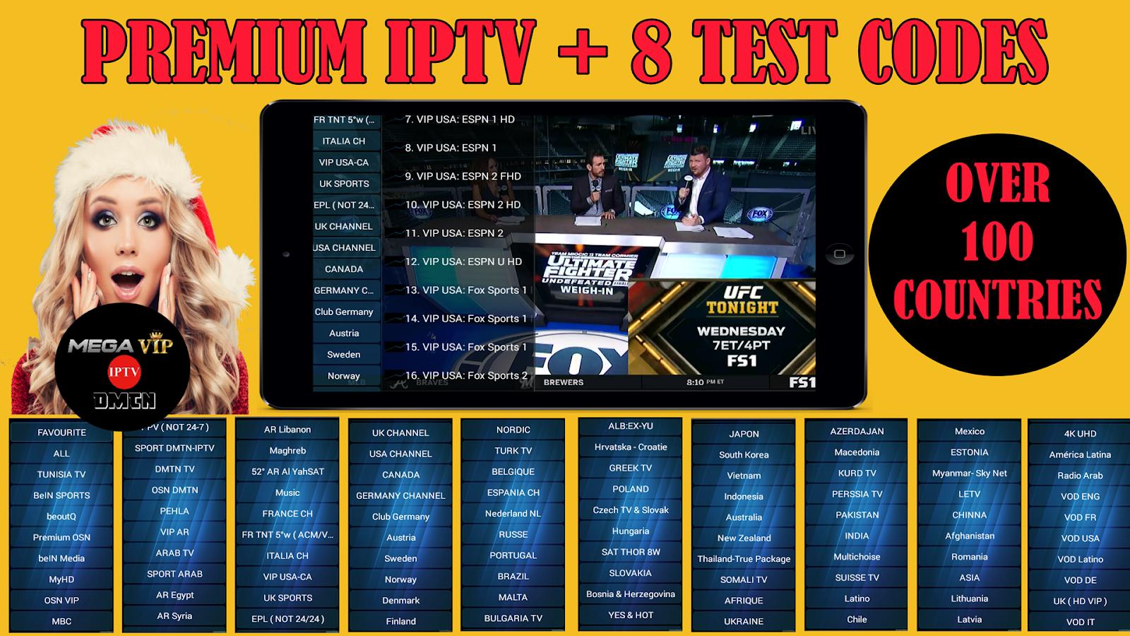 MEGA IPTV : REVIEW PREMIUM IPTV + 8 TEST CODES - IPTV DROID