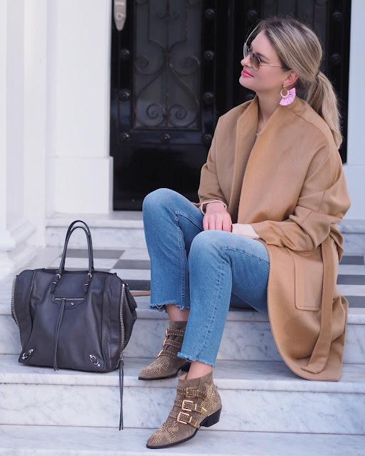 Chloe Susanna boots, cashmere coat, Balanciaga, London street style