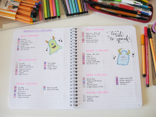 daily log semaine bullet journal