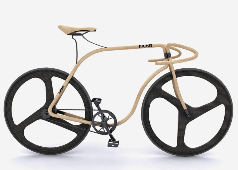 Steam Bent Wooden Bicycle
