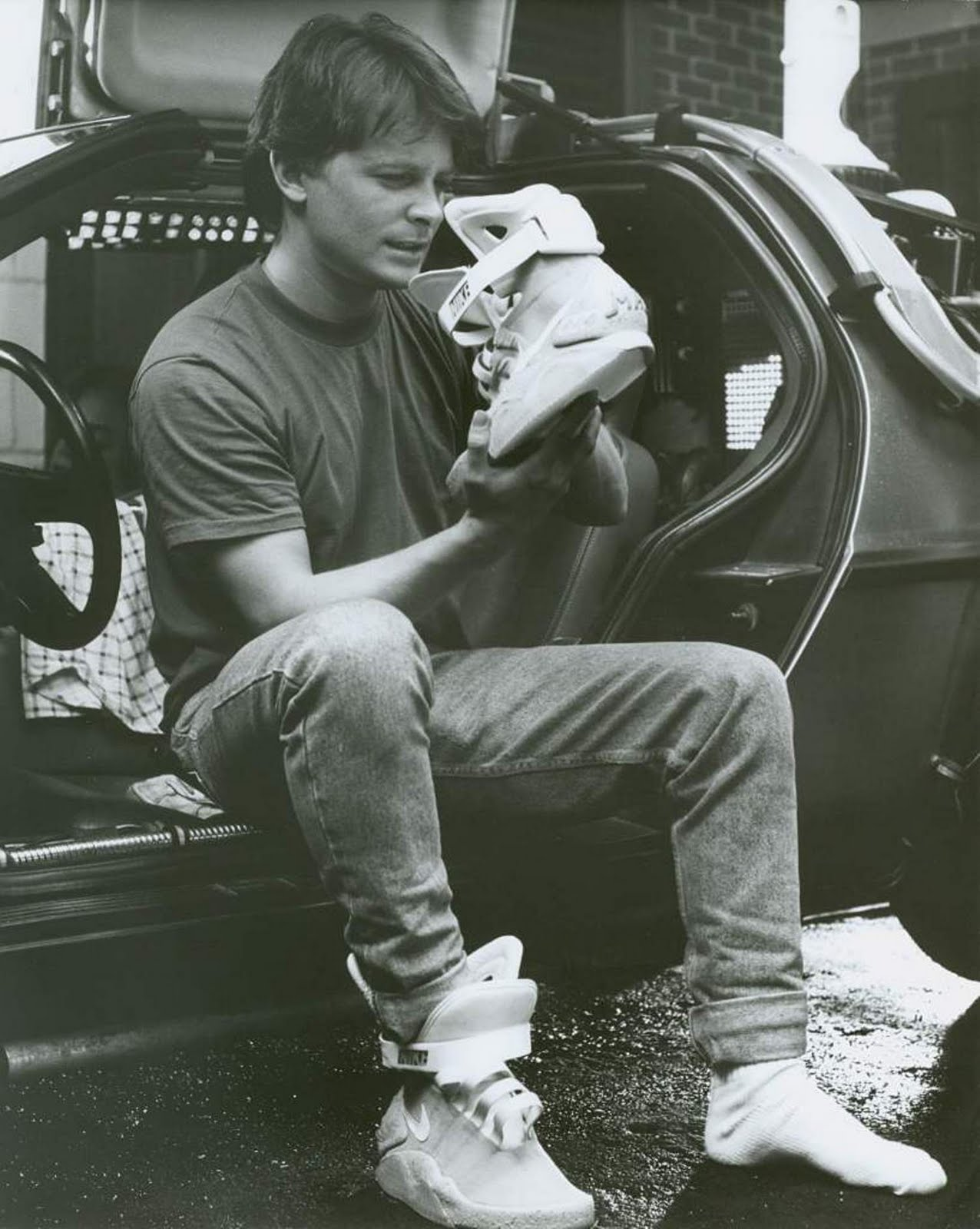 41df2043650 A scene from the movie Back To the Future II featuring Marty McFly (Michael  J. Fox) checking out the