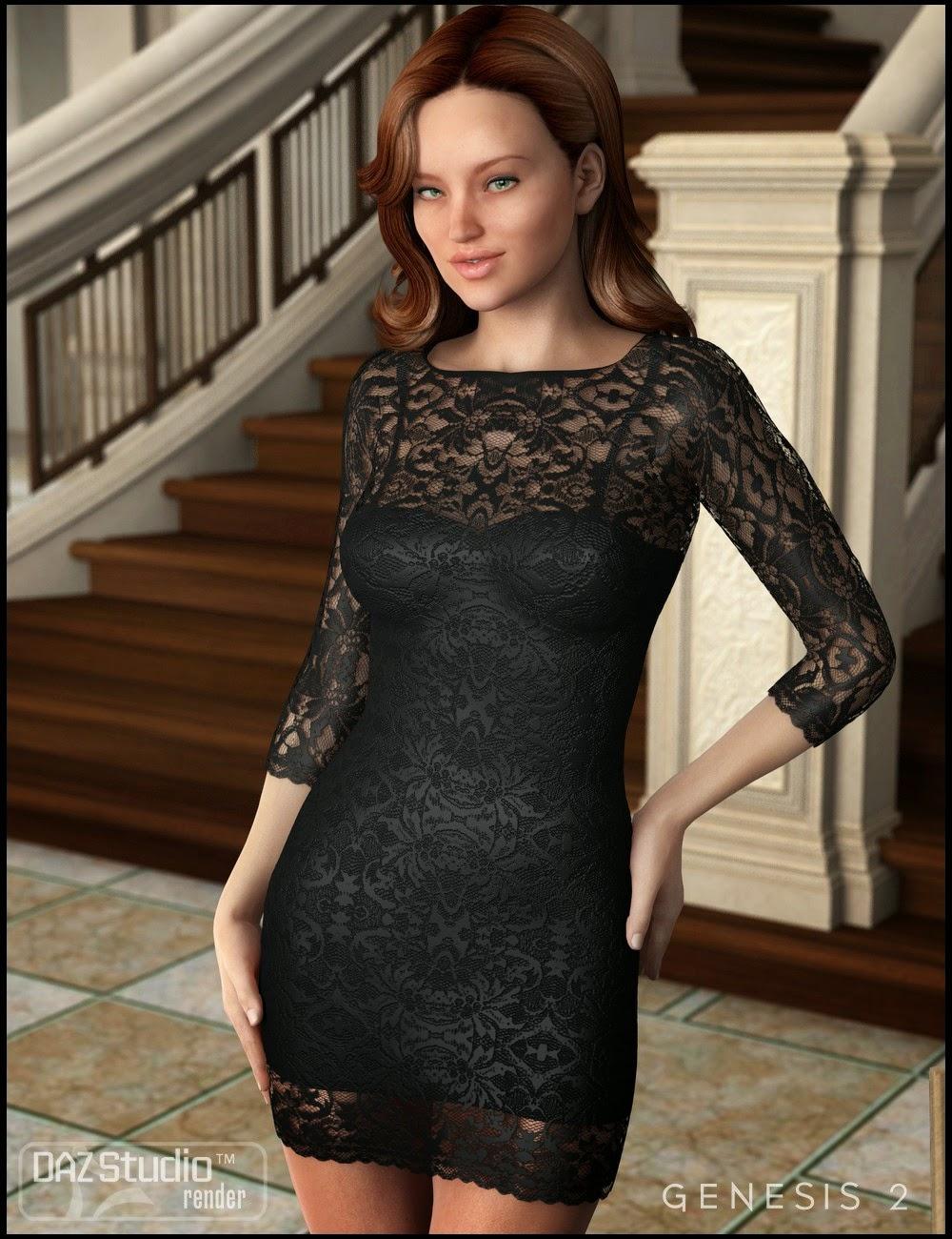 magixfox art de mod lisation 3d robe classique chic pour genesis 2 femme daz 3d. Black Bedroom Furniture Sets. Home Design Ideas