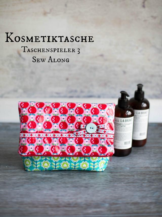 Kosmetiktasche aus Wachstuch genäht auf einer Bernina 770 Quilters Edition