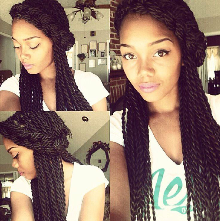 protective styles: halo on a two strand twists