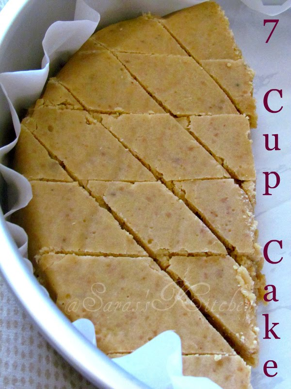 Seven Cup Cake 7 Burfi