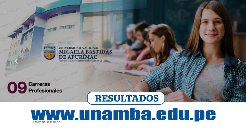 Resultados UNAMBA 2019-1 (Domingo 7 Abril) Lista de Ingresantes - Examen Admisión Ordinario - Universidad Nacional Micaela Bastidas de Apurímac - www.unamba.edu.pe