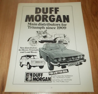 Duff Morgan advert from 1975