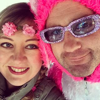 carnavalsoutfit roze konijn