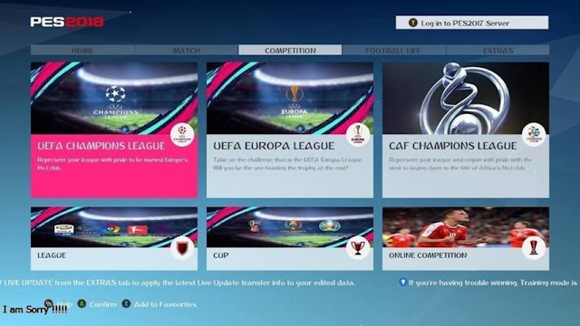 FIFA 19 Graphic Menu For PES 2017