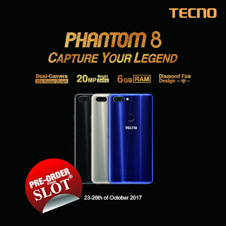 Tecno%2B3 Tecno Phantom 8 launched in Lagos; Makes debut at Lagos Fashion Design Week 2017