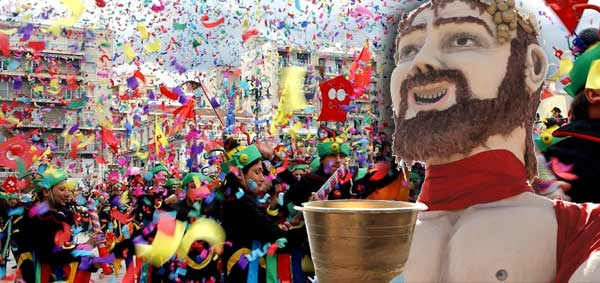 Greek Carnival Still celebrating Dionysus, God of wine.