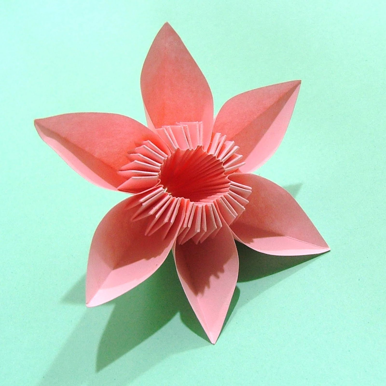 How To Make Origami Flowers, Simple Origami Flower Design ... - photo#18