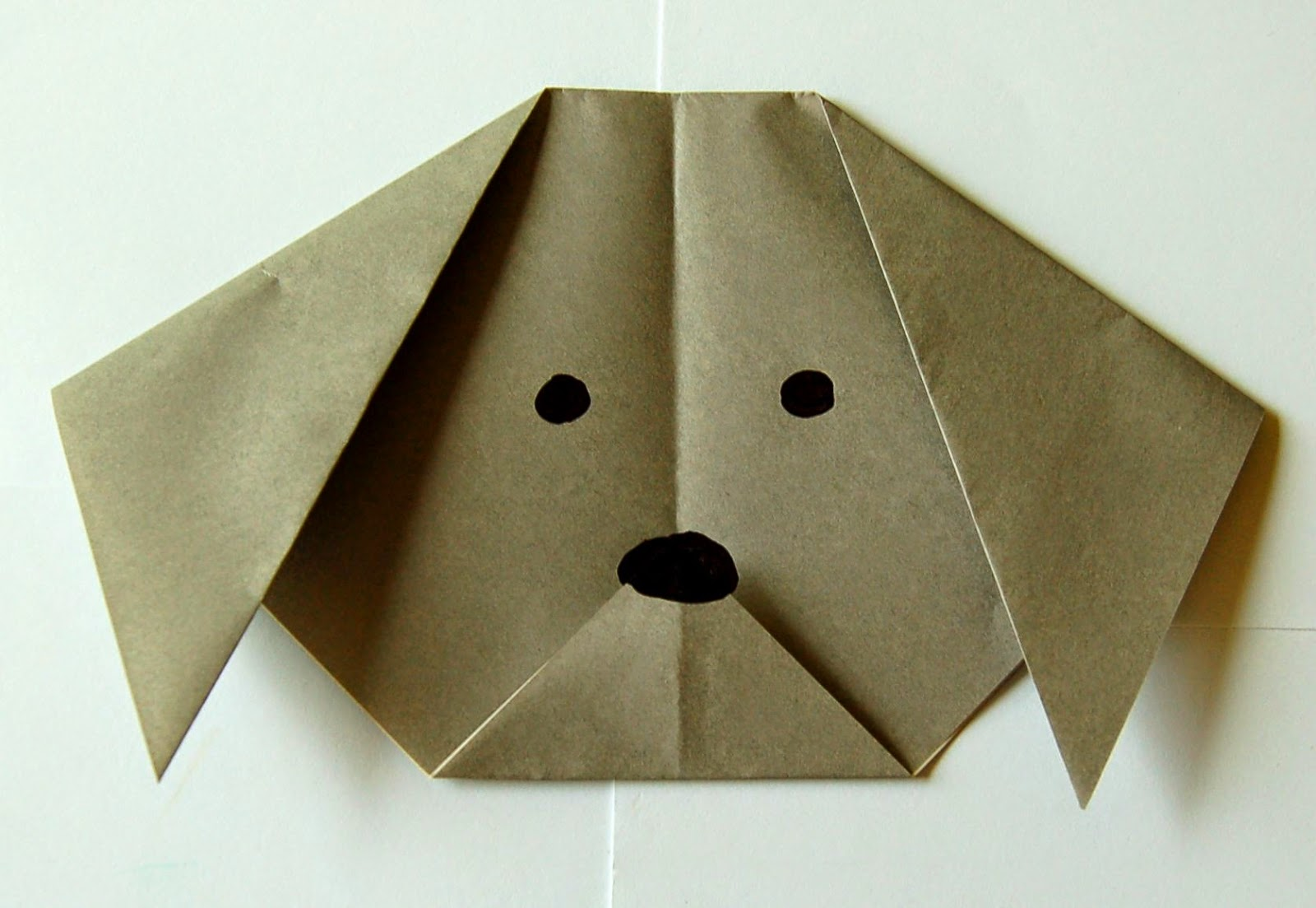 Easy Origami Dog Face Instructions #dog #easy #facestructions ... | 1103x1600