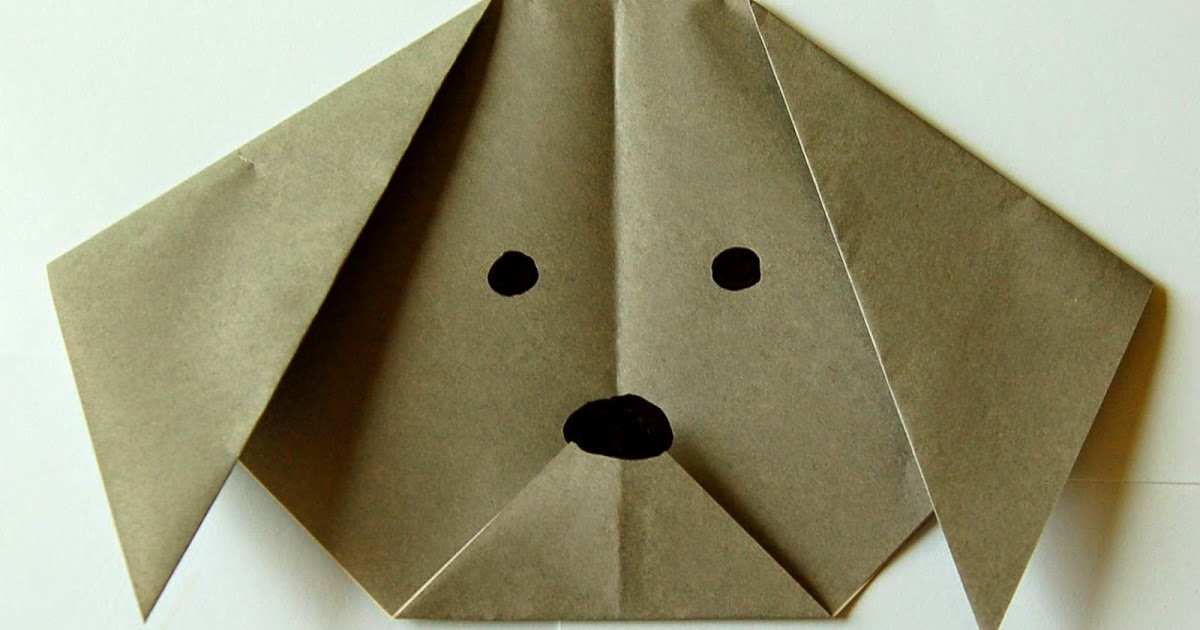 Dog(face) | Origami instructions for kids, Easy origami animals ... | 630x1200