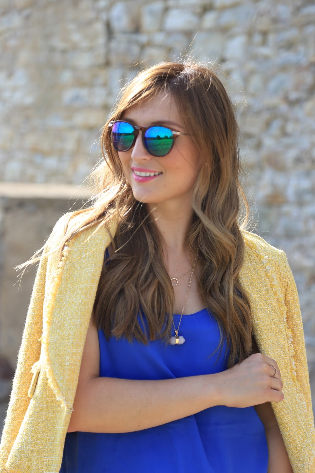 Haarinspiration - Beautyblogger aus Frankfurt - Frankfurt Beautyblogger - Balayage Frisur - verspiegelte Sonnenbrille