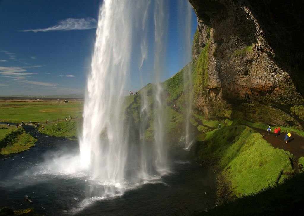 12. Seljalandsfoss is a 40m high waterfall