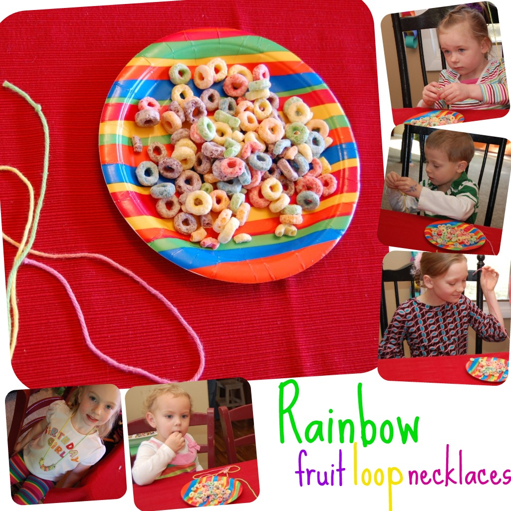 Our Life Unedited: Photo Album: Brynlee's Rainbow Party
