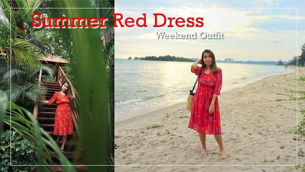 Red Beach Dress Weekend Outfit #91