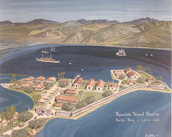 Painting of the Spanish Naval Station in Subic Bay (1898)