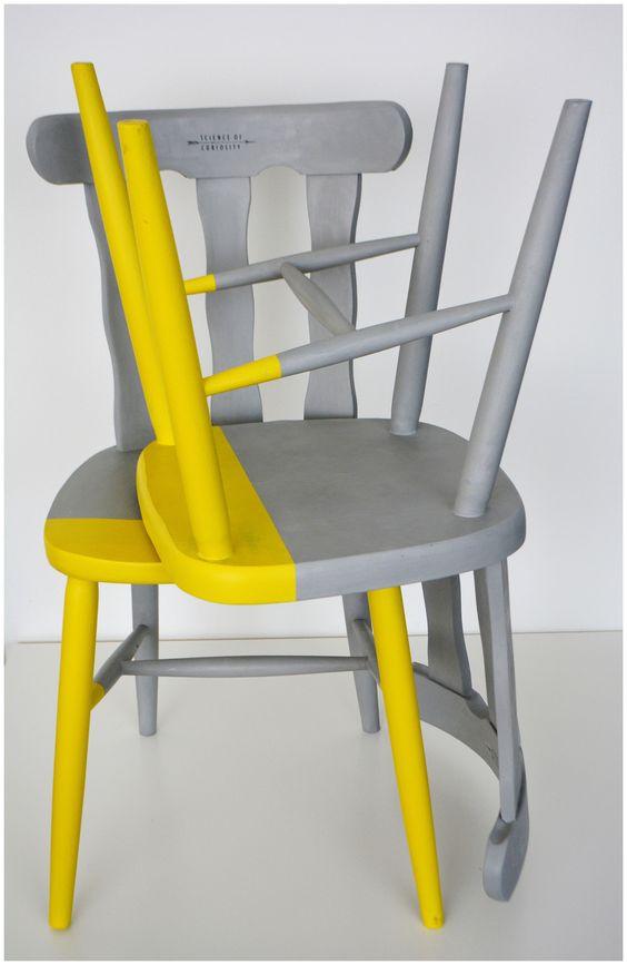 gri sarı sandalye