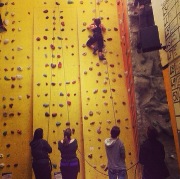Climbing at Westway Climbing Centre