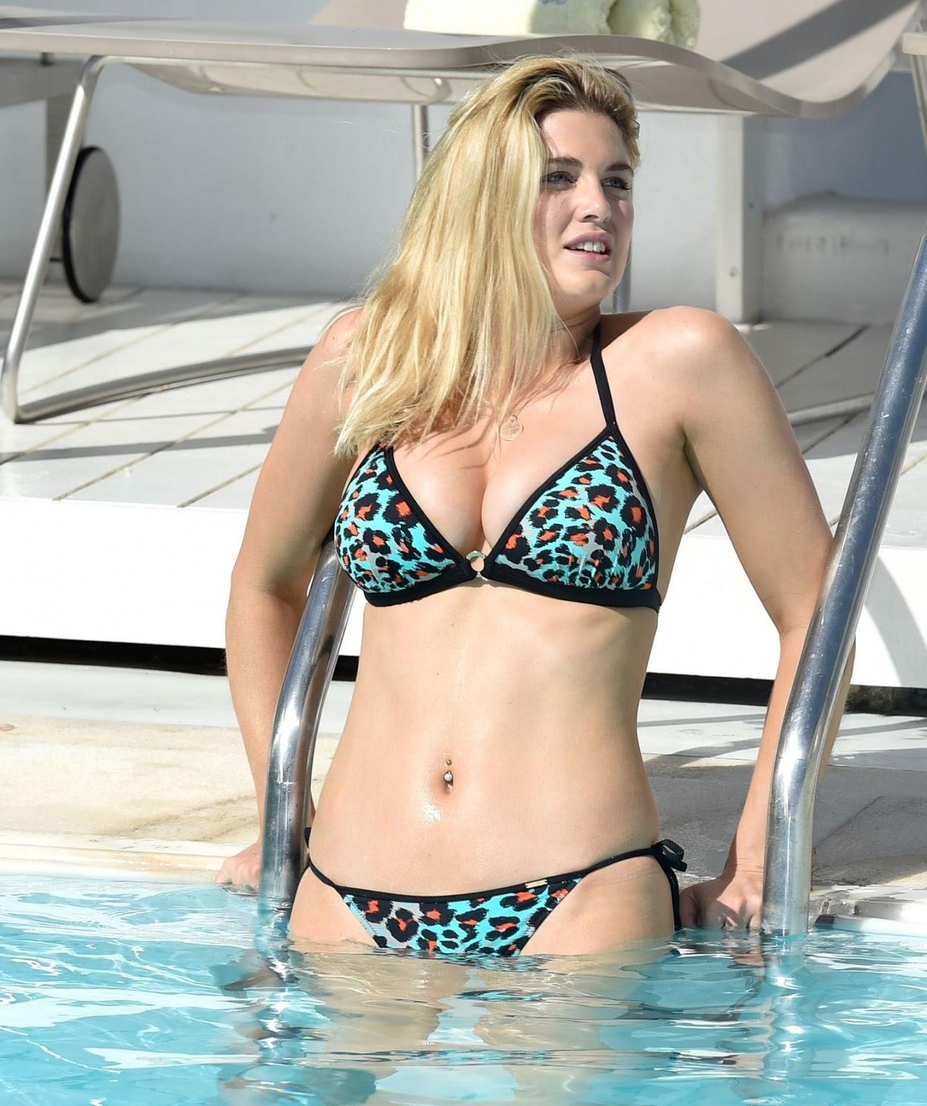 Ashley James in Bikini at a Pool in Greece