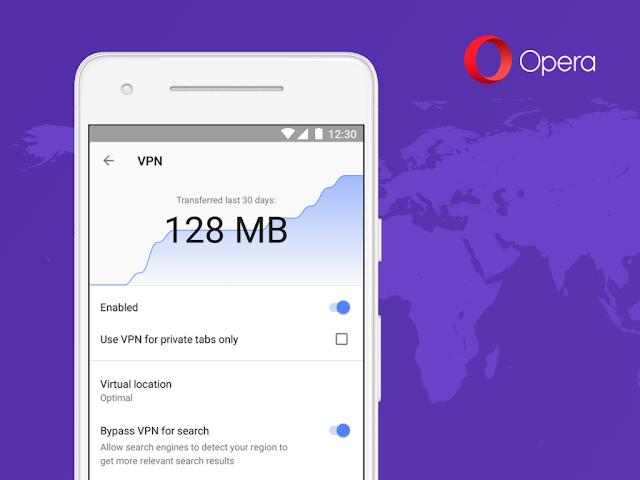 متصفح Opera يدمج VPN في إصدار اندرويد الخاص به