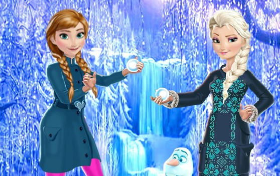 Elsa and Anna Winter Fun Frozen Online Games