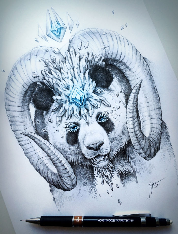 11-Panda-Jonas-Jödicke-jojoesart-Fantasy-Animal-Drawings-with-Souls-of-Nature-www-designstack-co