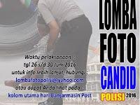 Lomba Foto Candid Polisi 2016. Banjarmasin