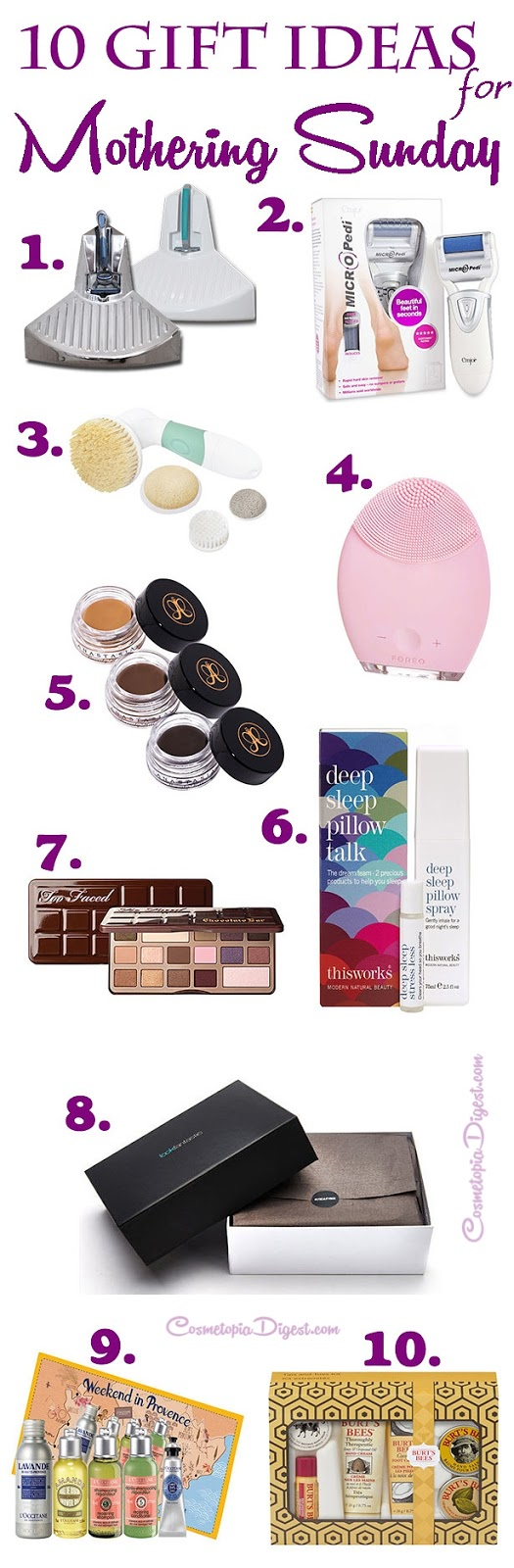 Here are some great beauty and skincare gift ideas to treat yourself or your mum on Mothering Sunday!