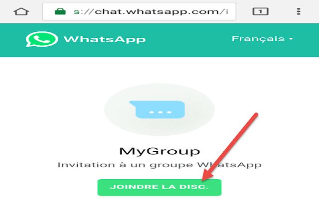 الانضمام الى مجموعة واتساب عبر الويب