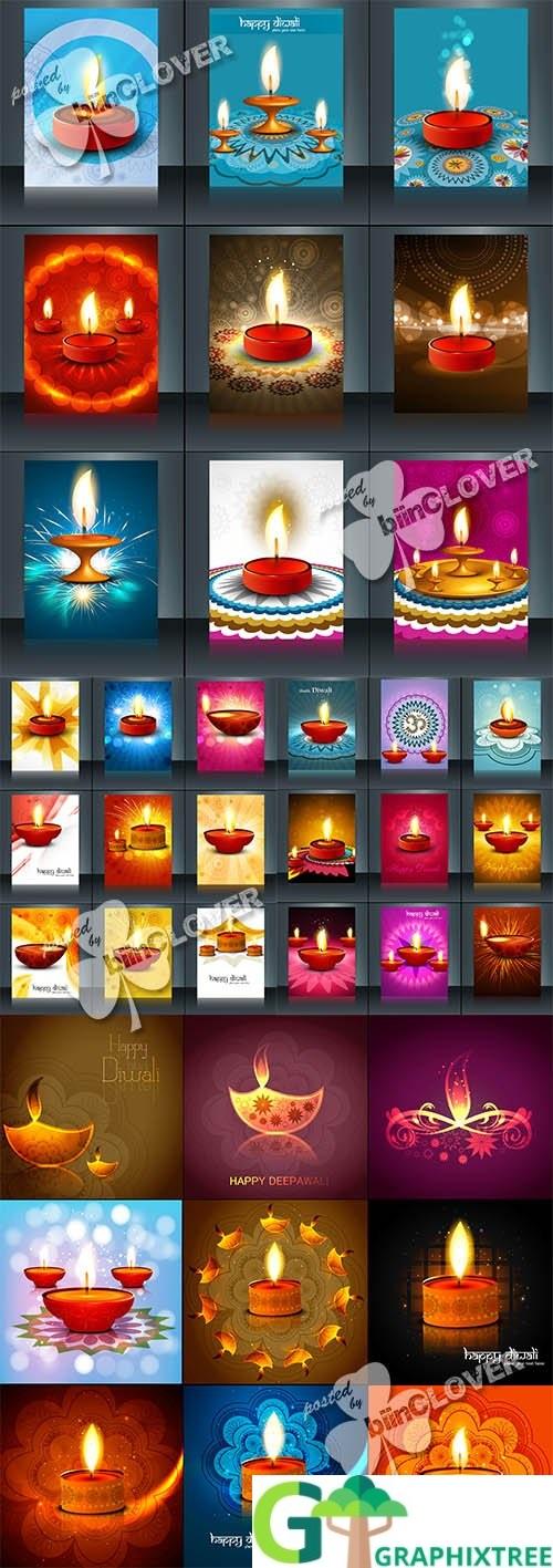 Vector Happy diwali design 0520
