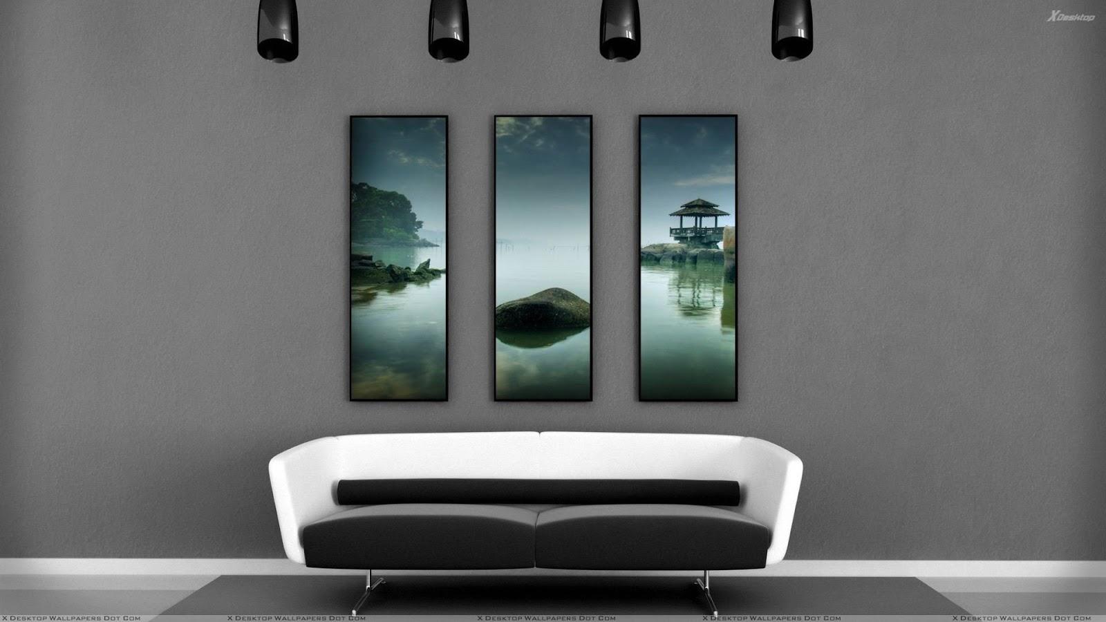 17 Model Wallpaper Ruang Tamu Yang Cantik ~ Rumah Minimalis