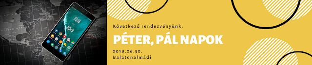 Következő rendezvényünk - Péter, Pál Napok